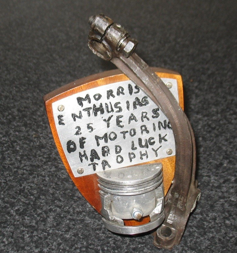 MORRIS ENTHUSIASTS 25 YEARS OF MOTORING HARD LUCK TROPHY